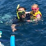 Snorkeling fun with a little one.