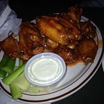Honey hot wings are a must try