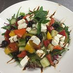 Beautiful salads served at Hoopers, absolutely love the Greek salad