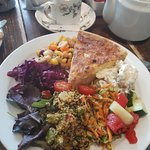 Quiche and all the salads. Utterly delicious!