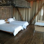 Beds in the room at Singita Lebombo Lodge