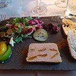 terrine de foie gras à l'abricots confits ( menu a 43 )