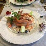 Un saumon frais fumé et des écrevisses, délicieux !