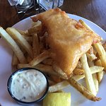 One piece Halibut and Chips dinner,  French Creek Marine Pub , Parksville, BC