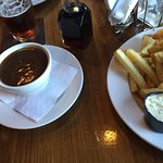 A huge side of gravy, so good!  French Creek Marine Pub , Parksville, BC
