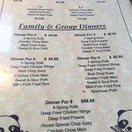 Menu options, Henry's Kitchen, Qualicum Beach, BC