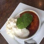 Creme Brule Dessert option, The Shady Rest Waterfront, Qualicum Beach, BC