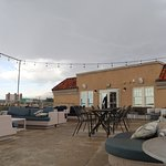 Rooftop Patio in the rain