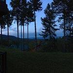Evening patio view