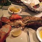 half of 4# lobster, green beans...
