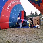 Getting the balloon ready to launch.