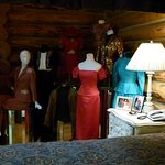 A few of Barbara Mandrell's outfits displayed in master suite