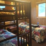 kids bedroom with bunk beds and twin
