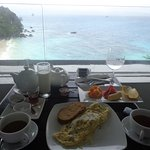In room breakfast with a view
