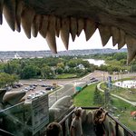 A view from the World's largest dinosaur in Drumheller!