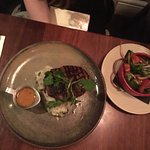Nice juicy steak and mash. Crab linguini was divine. Lamb pie was a special---nothing too specia