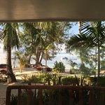 Blick aus einem Sea View Room im Erdgeschoß