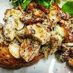 Paris mushrooms in creamy stilton sauce