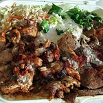 Doner Kebab lamg and chicken on rice