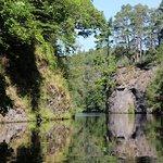 Canoeing through the Aigas Gorge