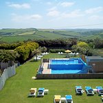 outdoor pool sands resort hotel cornwall