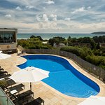 Outdoor pool view - Hotel Cristina Jersey