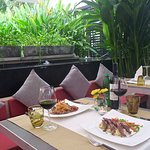 Our guests are amazed by our outdoor tropical dinning atmosphere.