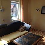 Sofa, coffee-table & TV
