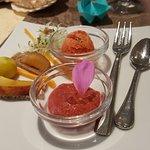 Gruß aus der Küche Tomatensorbet und Co