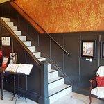 B&B lobby showing staircase.