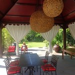 Lindas tendas nos jardins para breakfast or diner