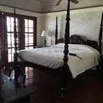 I loved this four poster bed! Comfortable and Classy....