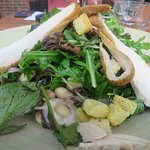 A great cheese and walnut salad