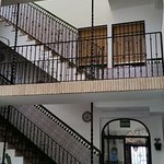 Stairs to rooms (view from the hall)