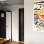 Wardrobe and coffee/minibar area