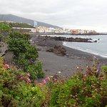 Playa Jardín y barrio de Punta Brava al fondo.