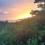 Puesta de sol desde el Lookout Inn