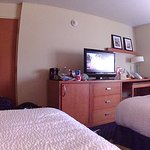 Inside room with flat screen tv.