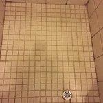 Shower floor-be sure to wear slops