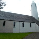 Nearby arts and crafts style church, Dervaig.