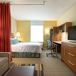 Choose from suites with one queen bed or two queen beds.  All suites have wireless internet and