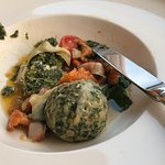 Spinach and mozzarella balls