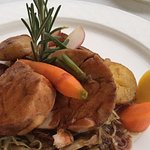 Veal shank and cabbage