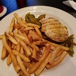 Lemon pepper chicken with fries