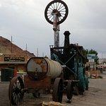 Main Street scene Moab, Utah. Rock Shop, La Hacienda & Inca Inn.