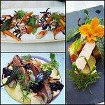 fois gras, rosé duck breast, sea-food