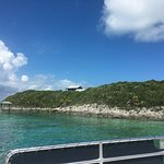 Arrival on south side of island - snorkeling area
