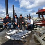 One day of salmon fishing - chinook and coho