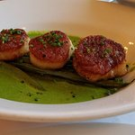 Seared Scallops with vegetable puree