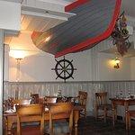 The restaurant interior